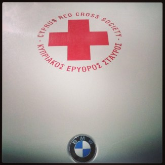 Red cross BMW