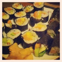 Homemade sushi (second try)