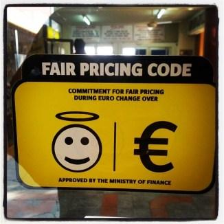 Fair pricing