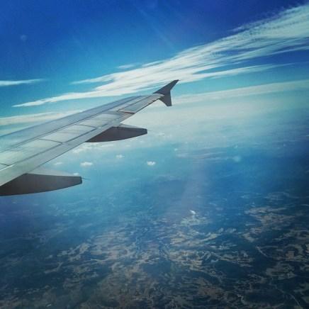 Descending for Madrid of Spain