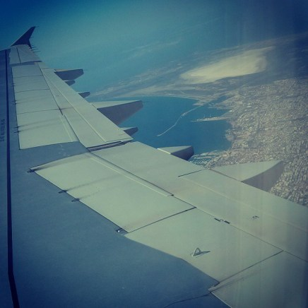 Flying over Limassol