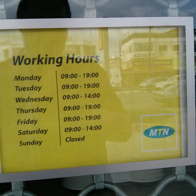 Oops. For three months now trying to get in. #mtn