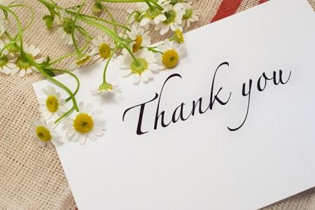 感謝のメッセージ