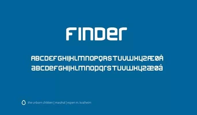 Finder - Free modern fonts