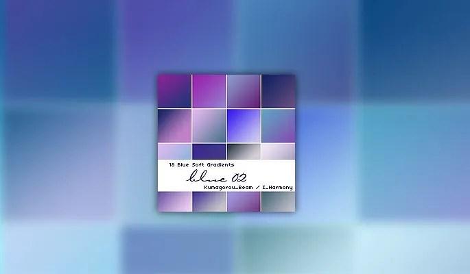 18 Soft Blue Gradients - Free Gradients Color for Photoshop