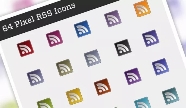64 Pixel RSS Icons - Free RSS Feed Icons