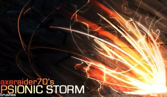 Psionic Storm Brushes by Axeraider70 - Amazing light photoshop brushes