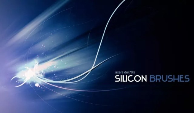 Silicon Brushes by Axeraider70 - Amazing light photoshop brushes