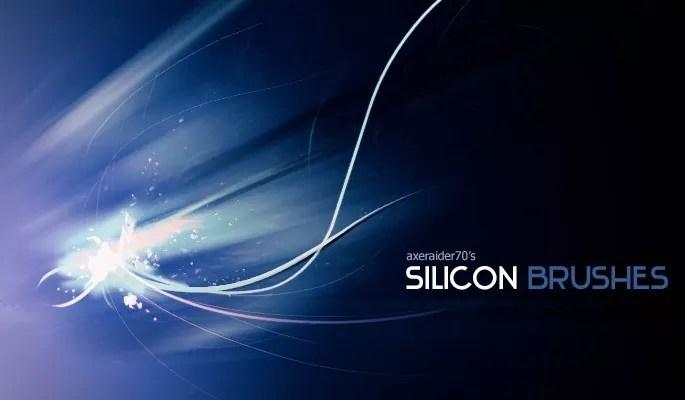 Silicon Brushes by Axeraider70 - Amazing light photoshop brushes