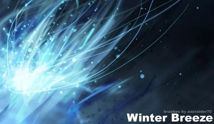 Winter Breeze Brushes by Axeraider70 - Amazing light photoshop brushes