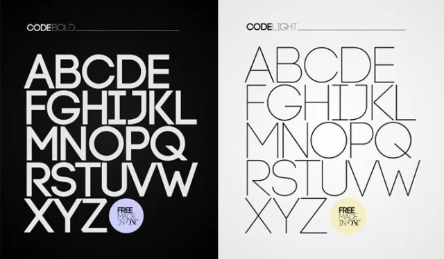 Code Free Font - 18 High quality free fonts for creative designs