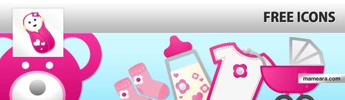 Jana free icon set - Jana free baby icon set