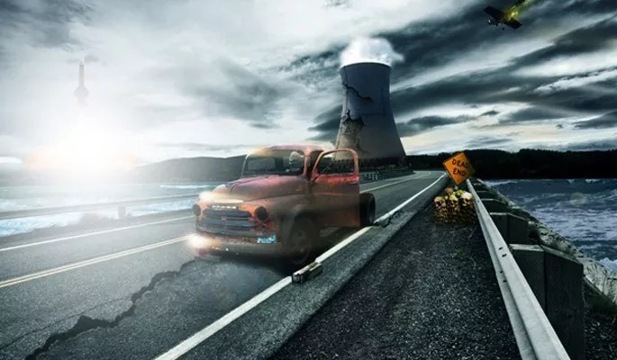 Nuclear Disaster Landscape - Best of Photoshop Tutorials