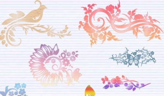 Ornamental Brushes - Free floral brushes for photoshop