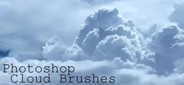 Cloud Brushes02 - 40+ Beautiful Photoshop Cloud Brushes