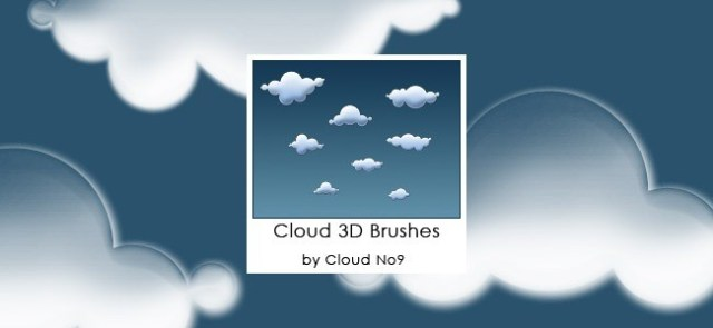 Cloud Brushes06 - 40+ Beautiful Photoshop Cloud Brushes