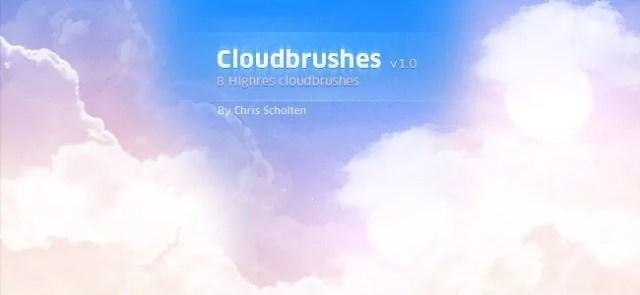 Cloud Brushes07 - 40+ Beautiful Photoshop Cloud Brushes