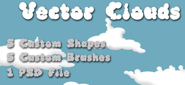 Cloud Brushes16 - 40+ Beautiful Photoshop Cloud Brushes