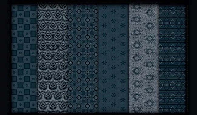 Midnight Blue - Collection of free Photoshop patterns