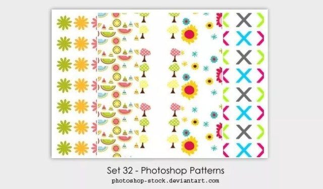 Set 32 Photoshop Patterns - Collection of free Photoshop patterns
