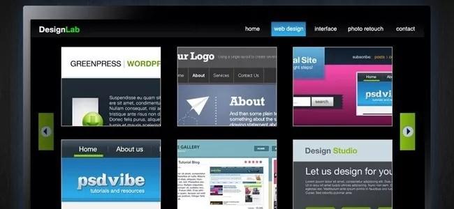 Design Lab TV Styled Layout - 21 Photoshop Web Design Layout Tutorials