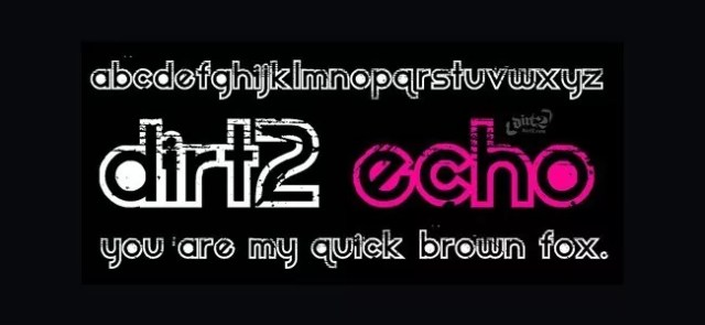 Dirt2 Echo - Download Free Dirty Fonts