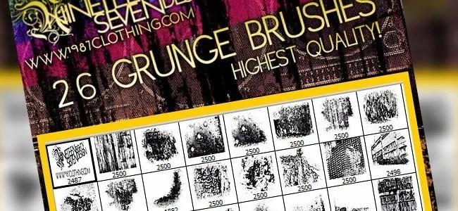 Grunge brush set image pack included - 450+ Free Grunge Photoshop Brushes