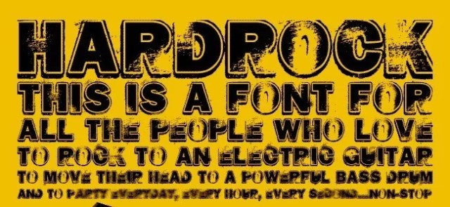 HARD ROCK - Download Free Dirty Fonts
