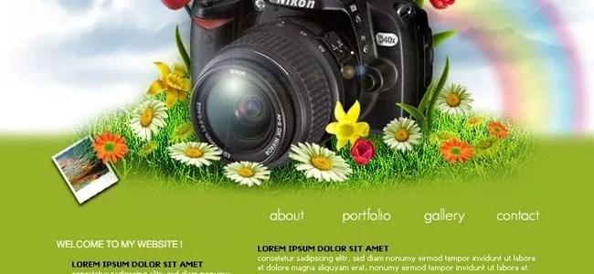 Photographer layout Portfolio layout - 21 Photoshop Web Design Layout Tutorials
