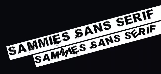 Sammies Sans Serif - Download Free Dirty Fonts