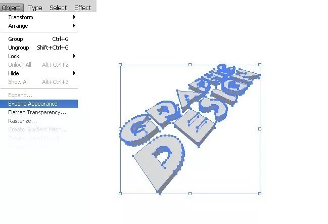 Step03 - 3D Text Tutorial With Illustrator and Photoshop
