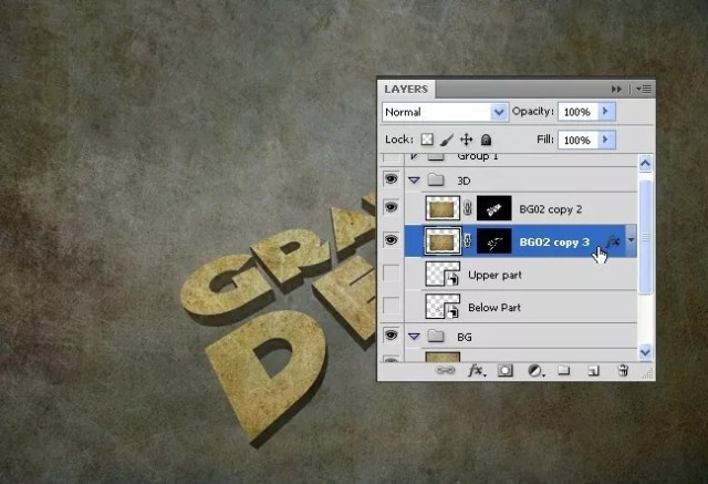 Step11 - 3D Grunge Text Tutorial With Illustrator and Photoshop