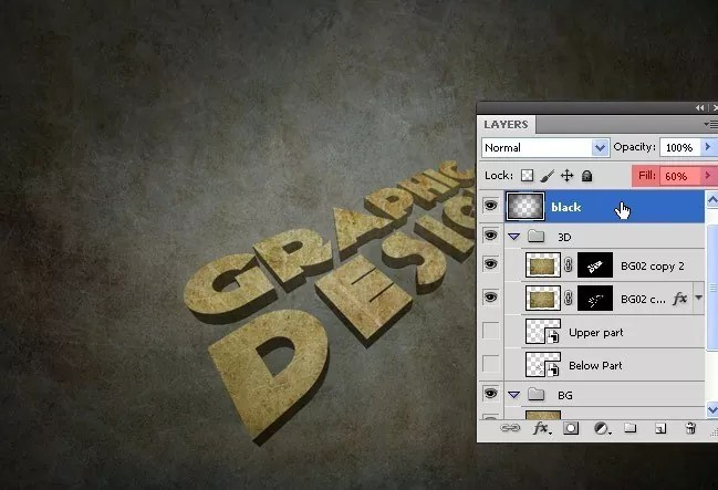 Step12 - 3D Text Tutorial With Illustrator and Photoshop