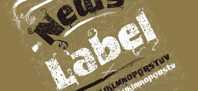 VTKS News Label - Download Free Dirty Fonts