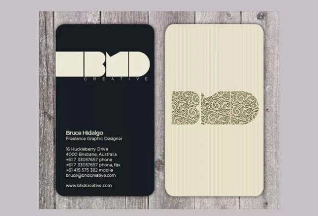Business Cards 12 - 20+ Business Card Design Examples