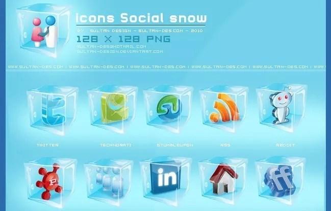 Social icons01 - 25 Set of Amazing Free Social Icons