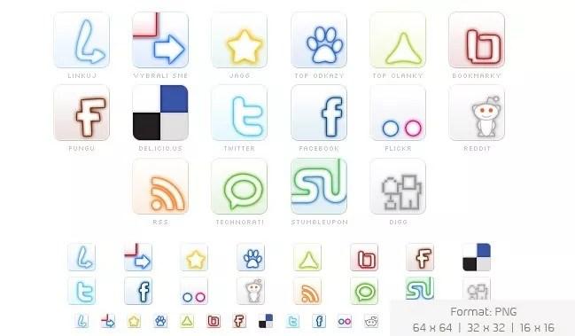 Social icons05 - 25 Set of Amazing Free Social Icons