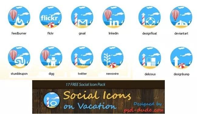 Social icons16 - 25 Set of Amazing Free Social Icons