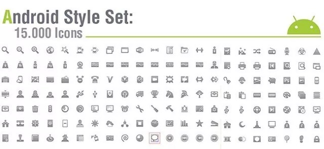 15.000 Android icons amazing freebie!! Several sizes, android guidelines, vector sources.