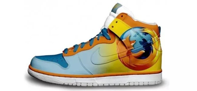 Firefox - 30+ PAIRS OF AWESOME SOCIAL MEDIA AND TECHNOLOGY SNEAKERS