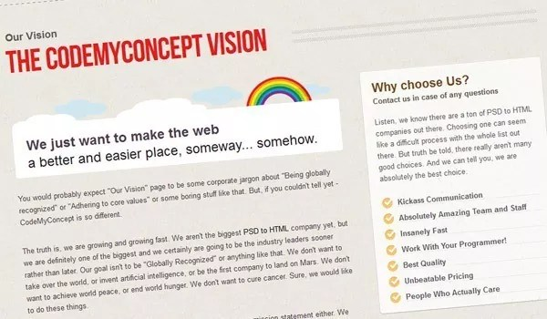 codemyconcept - PSD to HTML Conversion Services by CodeMyConcept