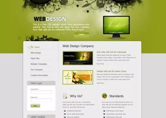 Css Template 11 - 20+ free green CSS templates