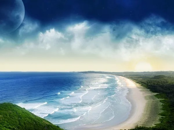 Coastal Sunset by nuahs - Amazing high resolution wallpapers #3