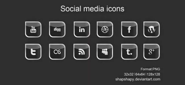 SocialMediaIcon10 - 18 Free Social Media Icon Packs