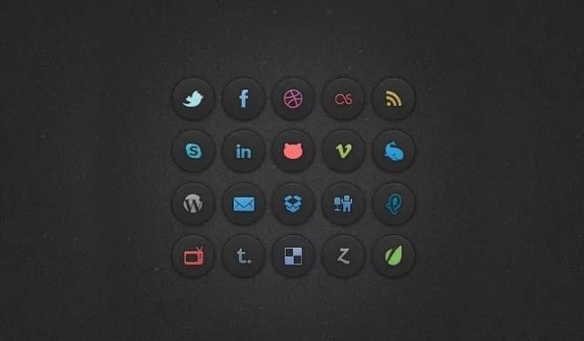 social icons - 18 Free Social Media Icon Packs