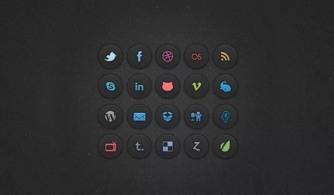 social icons - Free Social Media Icons 18 Sets