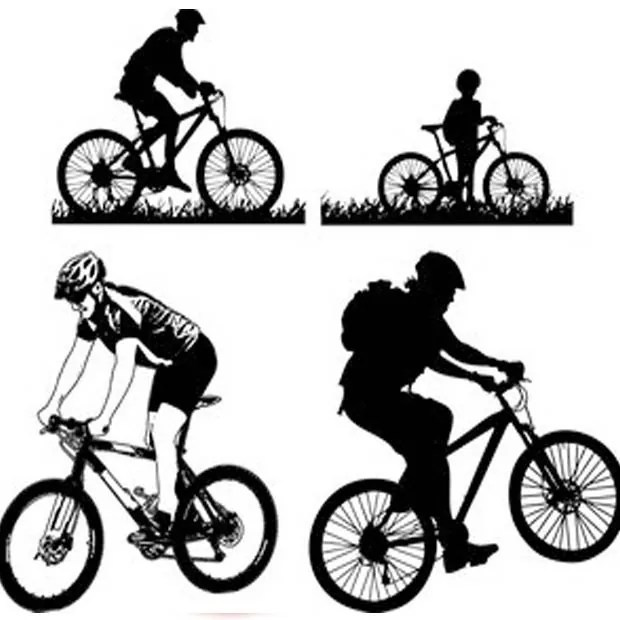 Cycling large vectorgab - Mountain Cycling Vector Free download