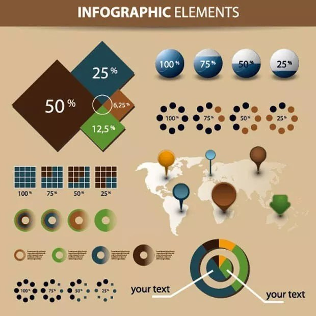 Economy large vectorgab - Economy Infographics and chart design elements vector