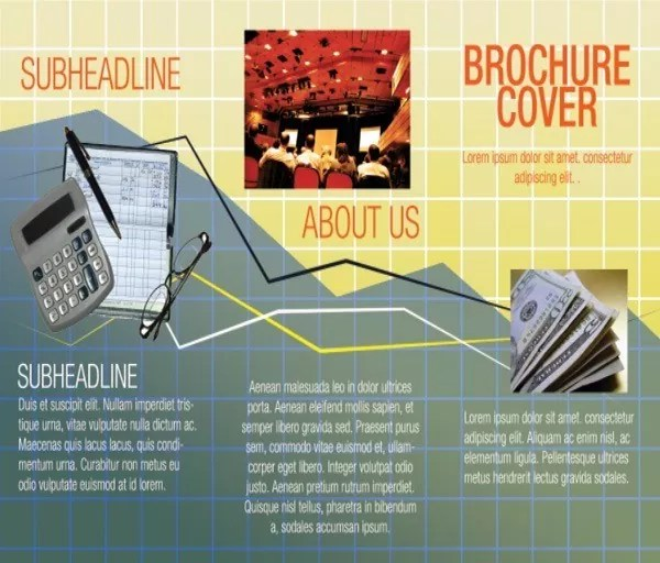 GraphBrochureFront - How to Design a Graph-Inspired Brochure in Photoshop