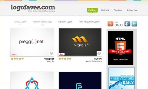 LogoFaves - Best Resources for Logo Designers - 10 Inspiring Websites